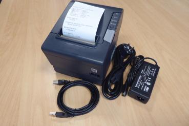 EPSON TM-T88 V USB  + 2.Schnittstelle, Thermodrucker, schwarz, mit Netzteil - TOP-Zustand - Gebrauchtgerät