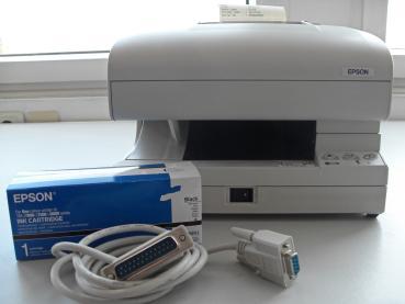EPSON TM-J7500 Tintenstrahldrucker/ Apothekendrucker grau mit neuer Tintenpatrone C33S020407 - Gebrauchtgerät