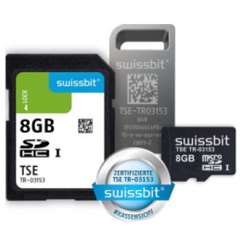 Swissbit TSE, USB, 8 GB, Zertifikatslaufzeit 5 Jahre
